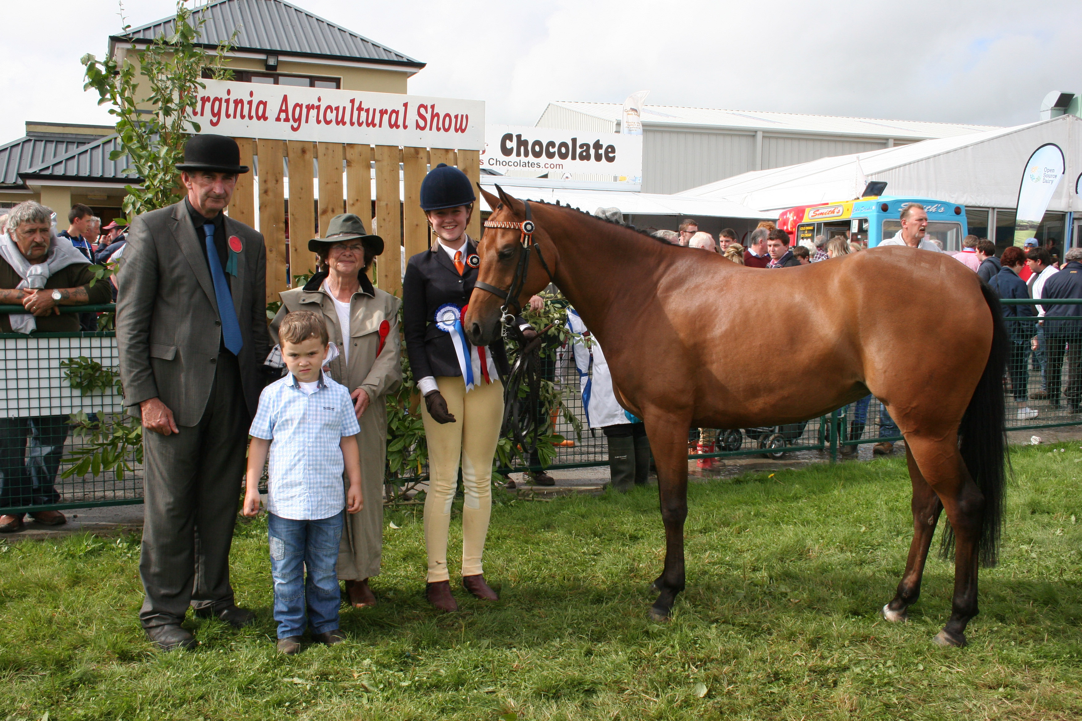 Reserve Champion Pony-Hullian Torrens (Convoy) with Christy McCormack, Rosaleen Barry and youg Evin Cranson