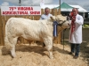 Reserve Champion Charolais David Erskin (Monaghan) with judge Andy McGovern
