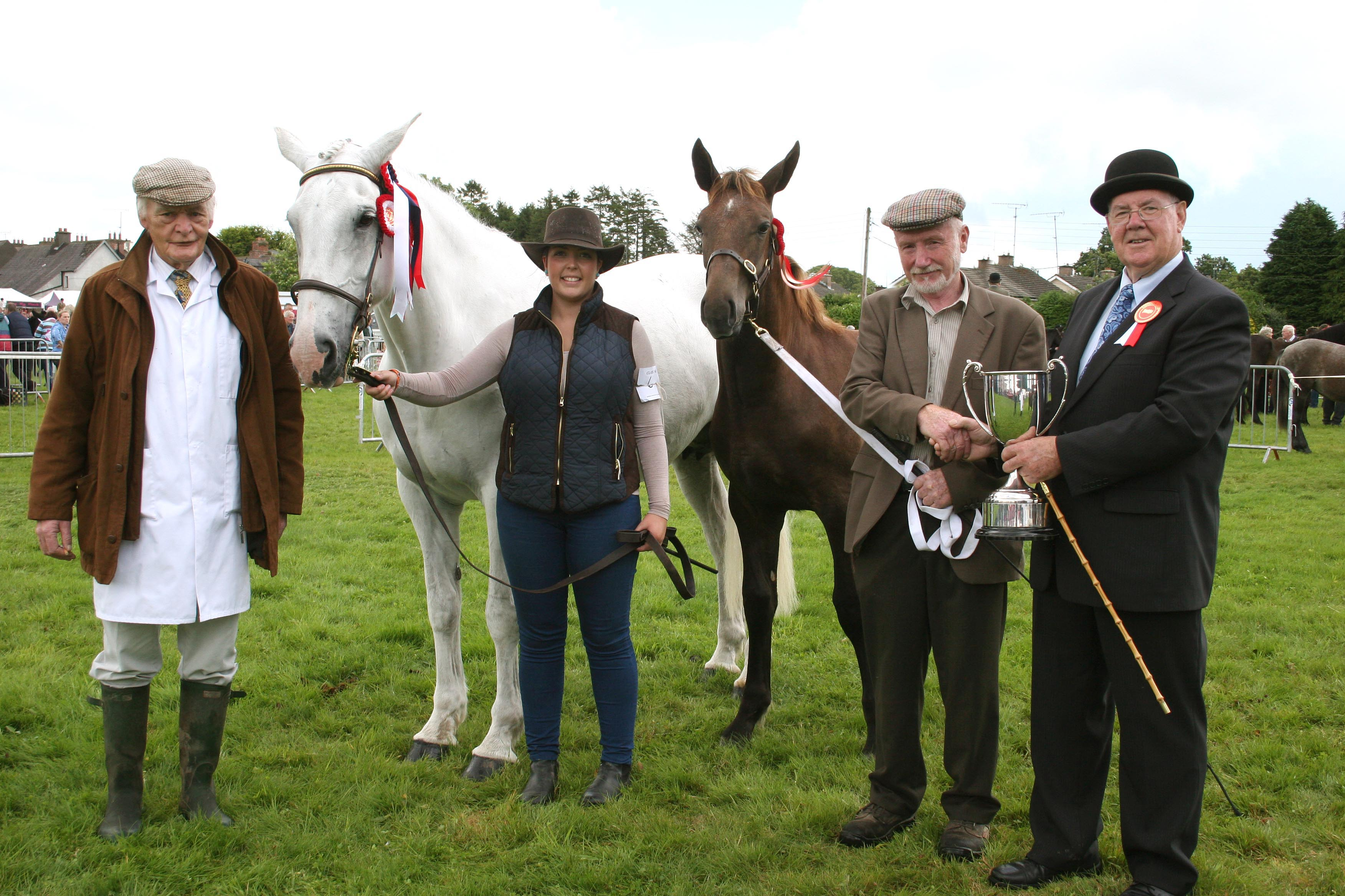 Champion Brood Mare winner at Virginia Show was James Heary with Julianne Corrigan and steward Terry Dunne