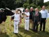 Champion & Reserve Dairy Cow winners-Denis O`Neill & David Boyd and Andrea Rafferty (Glaslough)