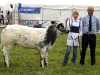 Tara O`Brien (Donegal) won the Young Stockperson title at the Virginia Show with judge Michael Molloy